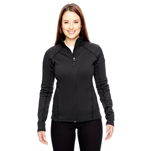 Stretch Women's Black Fleece Jacket