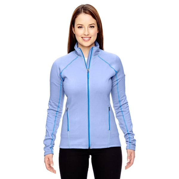 Women's Blue Fleece Stretch Jacket Blue