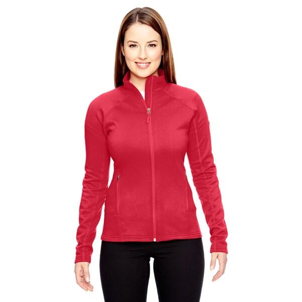 Women's Red Polyester/Spandex Stretch Fleece Team Jacket