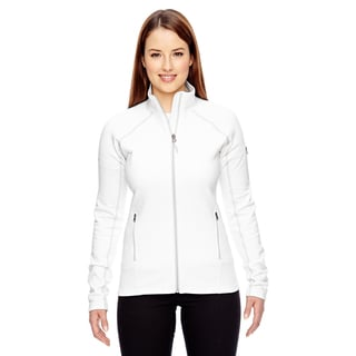 Women's White Fleece Stretch Jacket