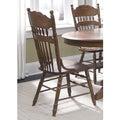 Old World Medium Oak Embossed Back Side Chair