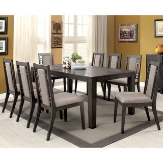Furniture of America Basson Rustic Grey 9-Piece Expandable Dining Set