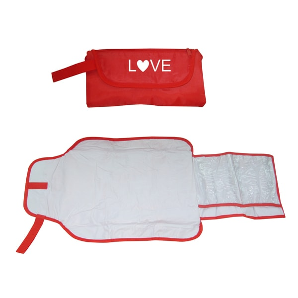 Silly Souls Love Red Baby Diaper Clutch Changing Bag