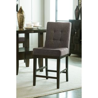 Signature Design by Ashley Chanella Dark Gray Upholstered Barstool (Set of 2)