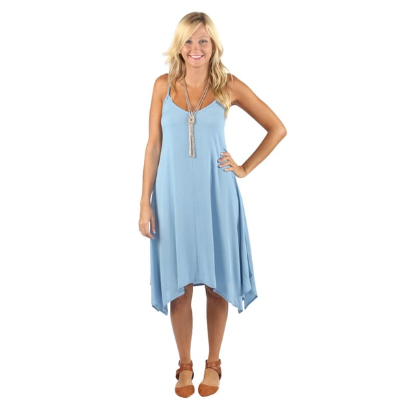 Hadari Womens Sleeveless V-neck boho dress