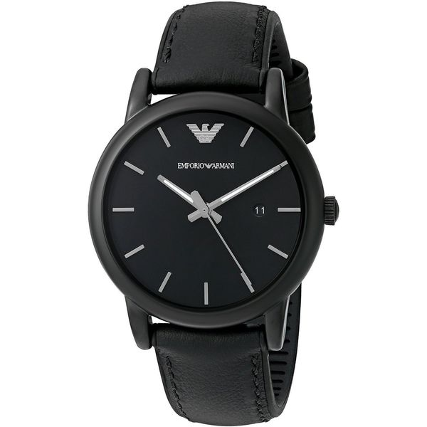 Emporio Armani Men's AR1973 'Luigi' Black Leather Watch