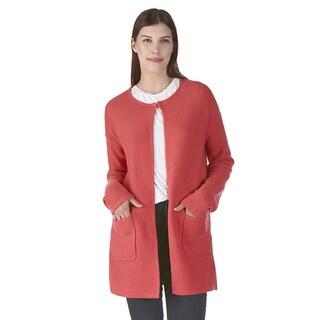 Nuage Lelio Orange Acrylic/Cotton Cardigan Jacket