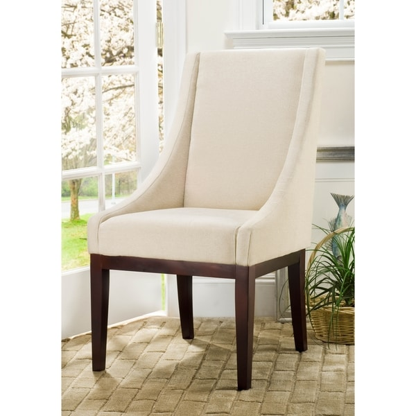Safavieh En Vogue Dining Soho Creme Arm Chair Linen (As Is Item)