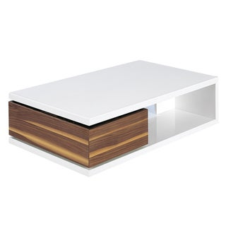 Furniture of america kress glass insert coffee table for Furniture of america inomata geometric high gloss coffee table
