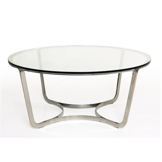 Blake Glass Stainless Steel Round Coffee Table