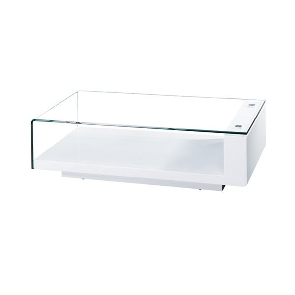 Scala Glass White High Gloss Coffee Table