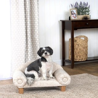 HomePop Decorative Dog/ Cat Bed Curved Mini Settee