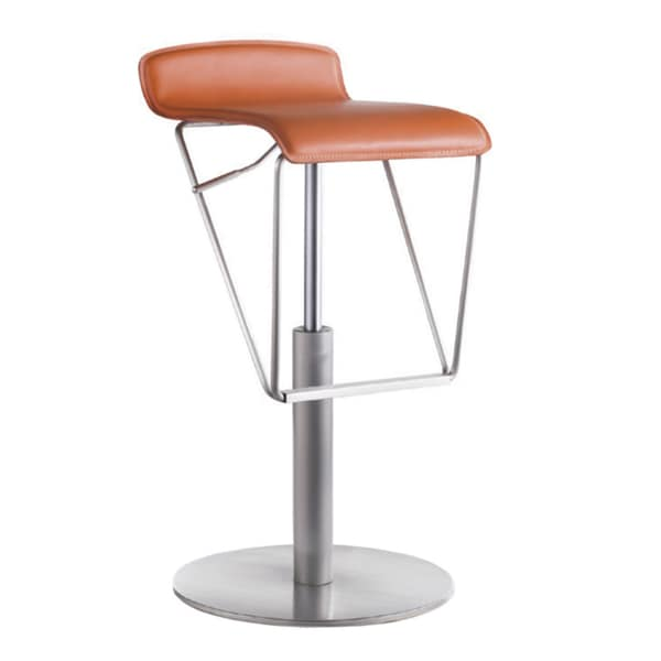 Alfa Adjustable Orange Bar Stool