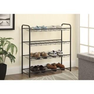 Coaster Metal 4-shelf Shoe Rack