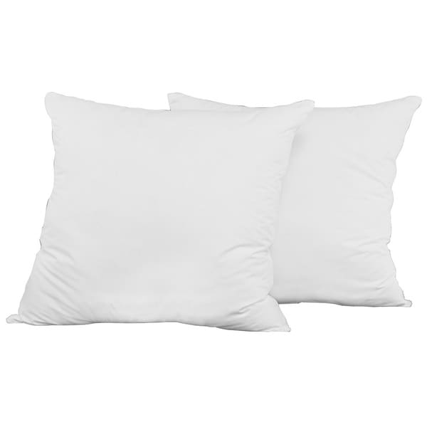 White Cotton 26 x 26-inch Euro Square Pillow (Set of 2)