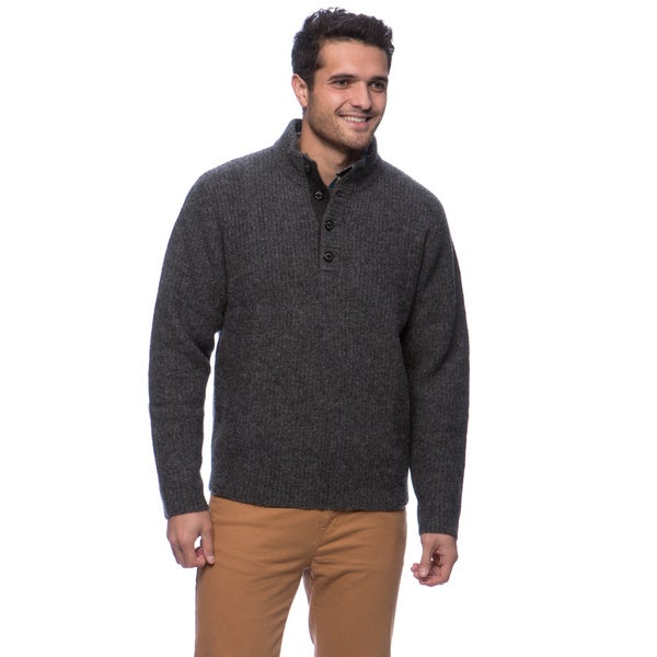 Woolrich The Woolrich Men's Pullover Sweater Size Large in Khaki heather(As Is Item)