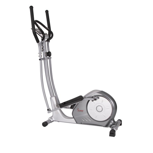 Sunny Health Fitness Silver Portable Magnetic Elliptical Trainer