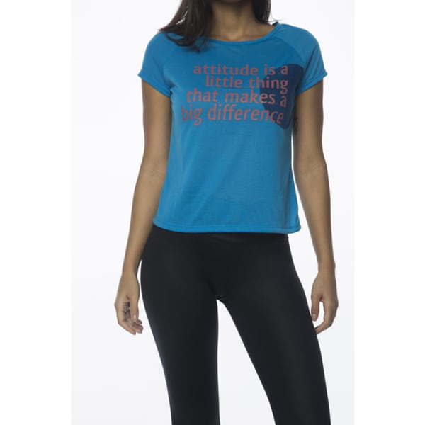 Be Up Women's Blue Attitude Tee