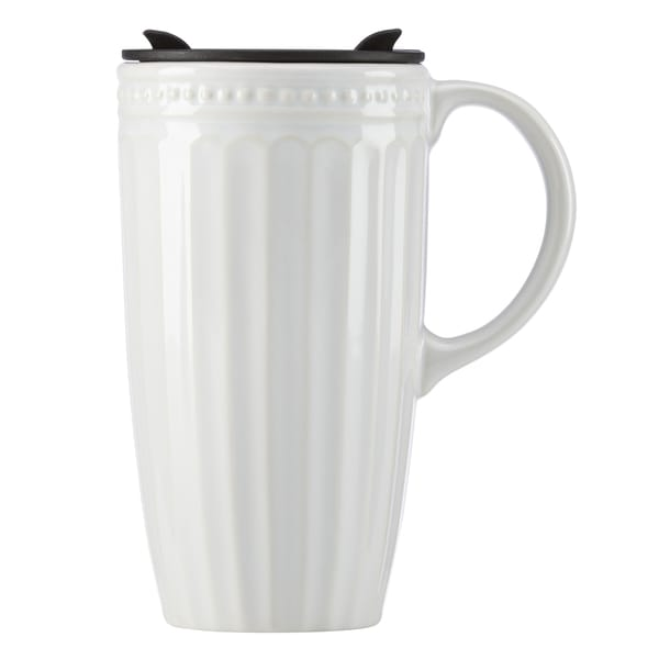 Lenox French Perle White Porcelain Thermal Travel Mug