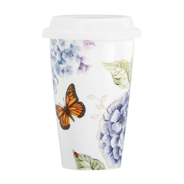 Lenox Butterfly Meadow Blue Ceramic Thermal Travel Mug