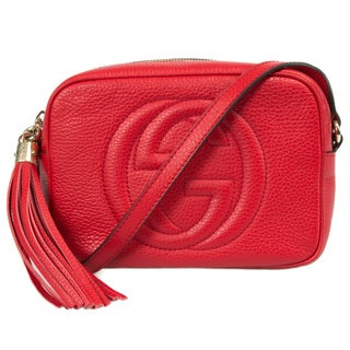 Gucci Soho Leather Disco Bag in Red Size Small