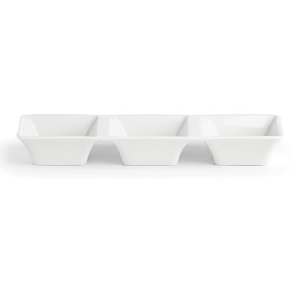 Lenox Entertain 365 White Porcelain Smooth 3-part Dish