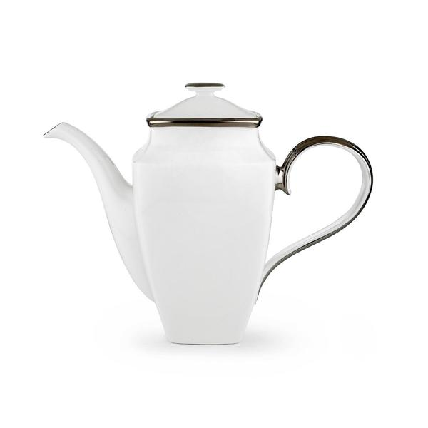 Lenox Solitaire White Bone China Square Coffeepot with Lid 19533194