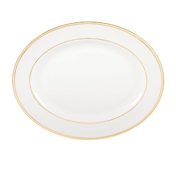 Lenox Federal Gold/White Bone China 13-inch Platter
