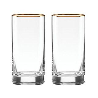 Lenox Timeless Gold Crystal Hiball Glass