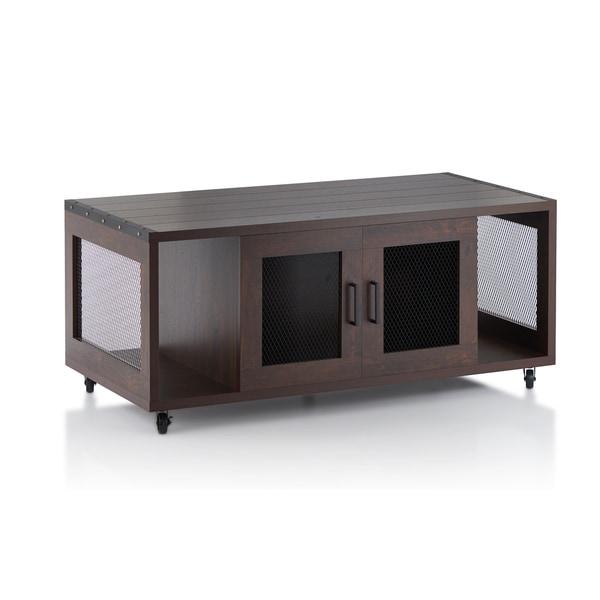 Industrial Storage Coffee Table Review: Furniture Of America Misenia Industrial Style Vintage
