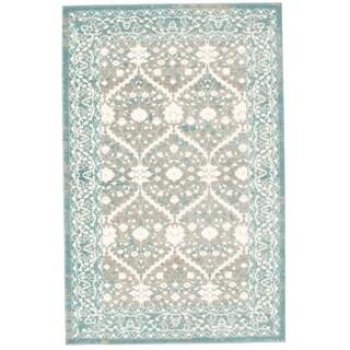 Bardot Blue and Gray Area Rug (5'3 x 8'0)