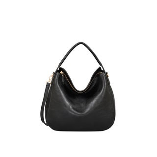 Mellow World London Black Faux Leather Hobo Handbag