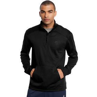 Champion Men's Tech Polyester Fleece 1/4 Zip Longsleeve Pullover