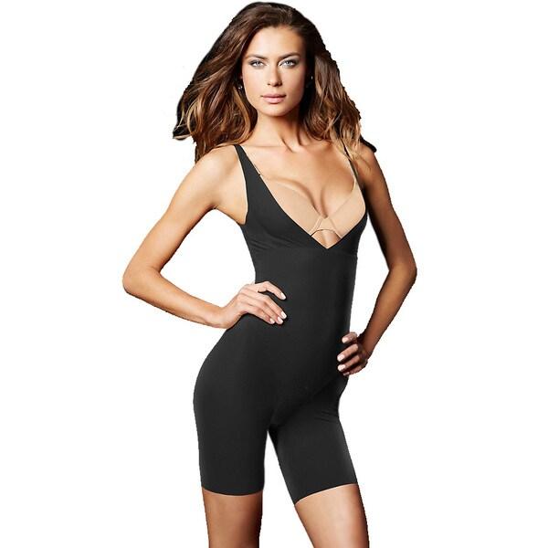 Maidenform Women's Wear Your Own Bra Black Cotton, Nylon, Spandex Full Body Singlet
