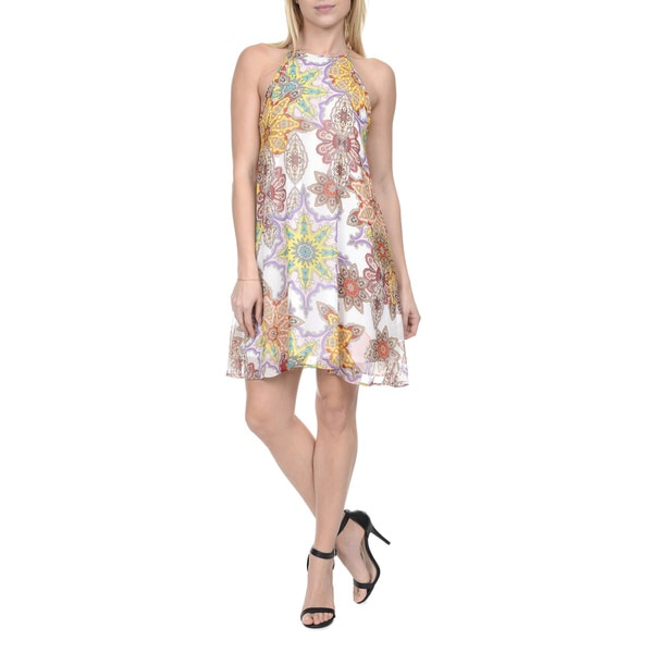 Romeo + Juliet Couture Sleeveless Racerback Printed Dress