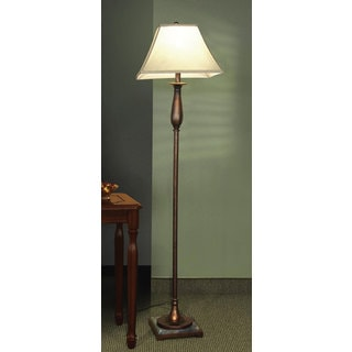 Coaster white floor lamp 19023654 overstockcom for Chevron shelf floor lamp