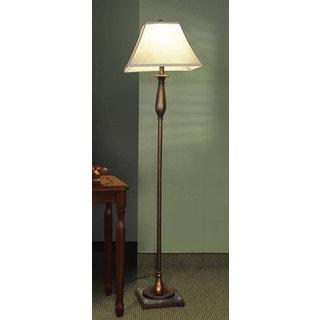 Coaster white floor lamp 19023654 overstockcom for Chevron shelf floor lamp