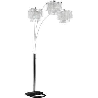 Coaster Chrome Polycrystal Lamp