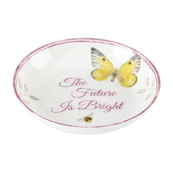 Lenox Butterfly Meadow The Future Is Bright Multicolor Porcelain Dish