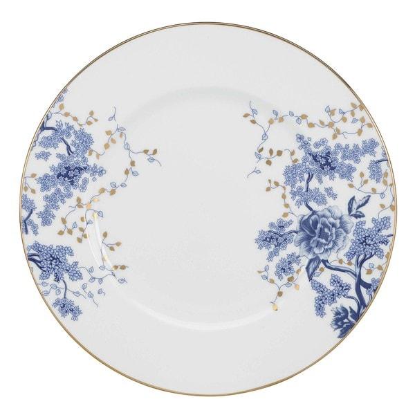 Lenox Garden Grove White/Blue Bone China/24k Gold Dinner Plate