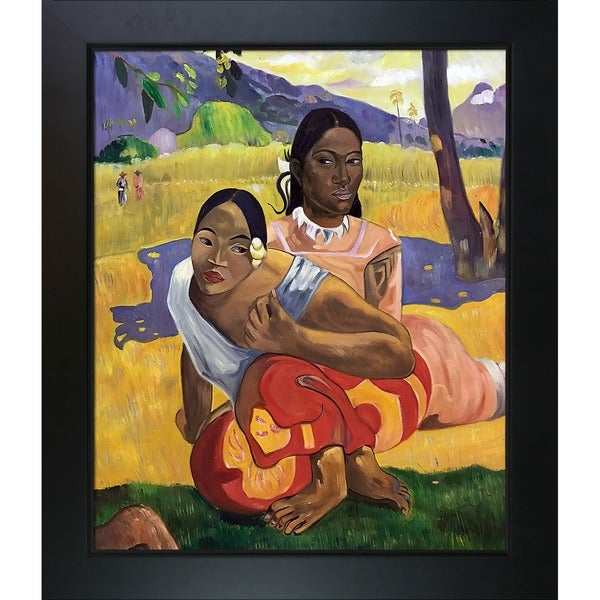 Paul Gauguin 'When Will you Marry?' (full view) Hand Painted Framed Canvas Art 19534406