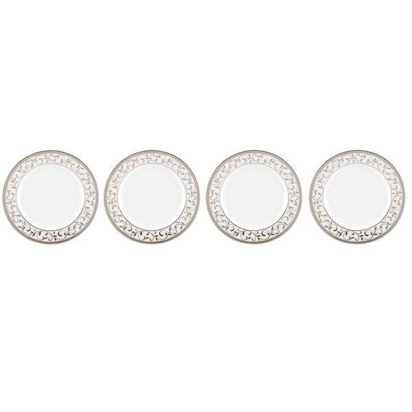 Lenox Opal Innocence Silver Platinum Tidbit Plates (Pack of 4)