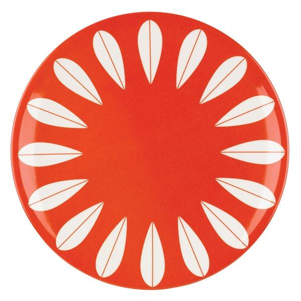 Dansk Burbs Marigold Orange/White Melamine Dinner Plate