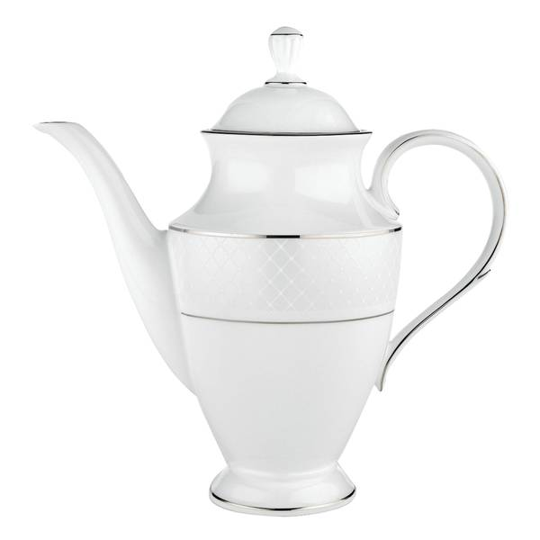 Lenox Venetian Lace DW Silver Ceramic Coffeepot With Lid 19534847