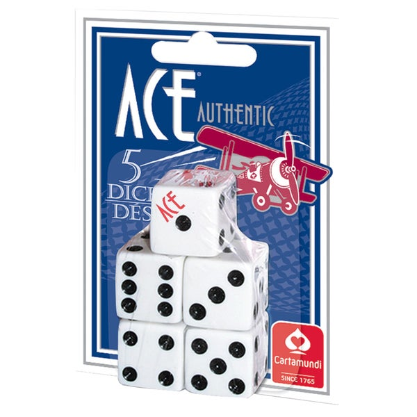 CartaMundi 1500 Ace Spot Dice 5-count