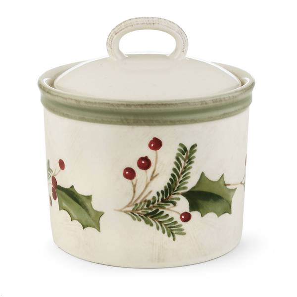 Lenox Holiday Gatherings Stoneware Sugar Bowl With Lid