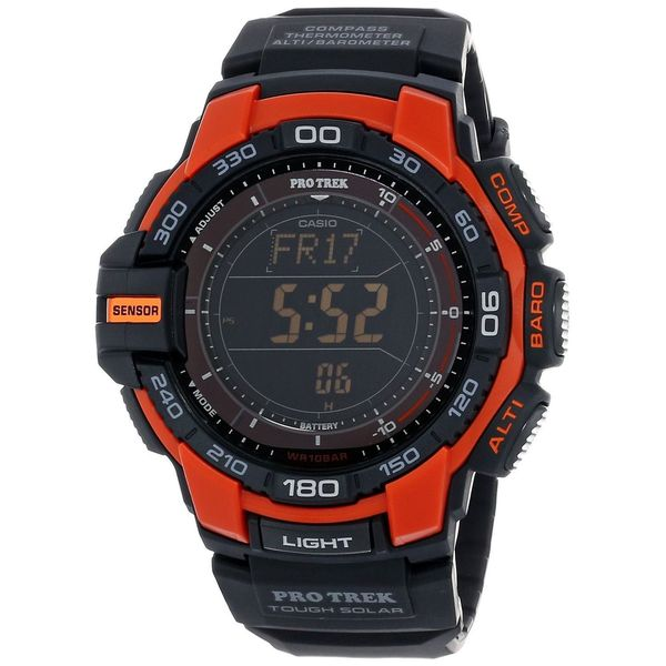 Casio Men's PRG-270-4CR 'Pro Trek' Digital Black Resin Watch
