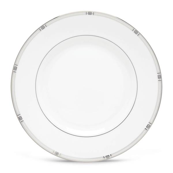 Lenox Westerly White Porcleain/Platinum Dishwasher-safe Dinner Plate