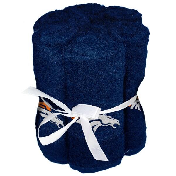 NFL 975 Broncos Washcloths (Pack of 6)
