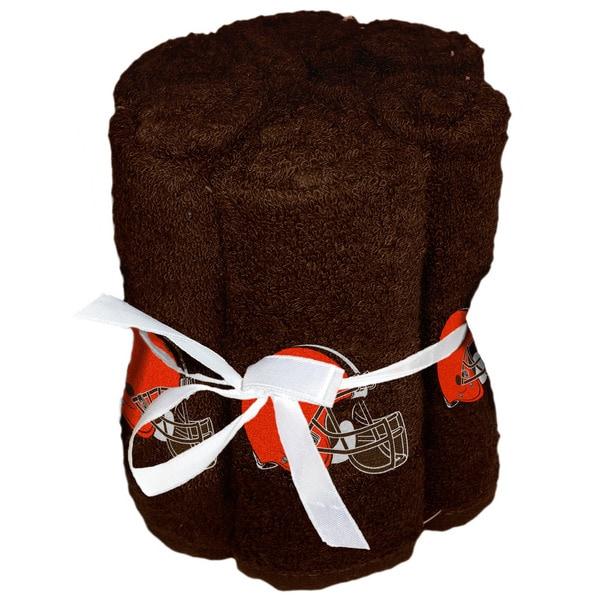 NFL 975 Browns Washcloths (Pack of 6)